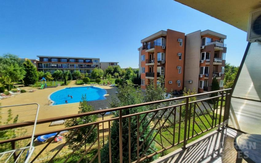 Studio with a beautiful view of the pool and the grounds ID 2059, Sunny Beach. Photo  1