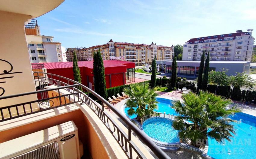 Studio pool view in the complex Aphrodite Palace ID 1471, Sunny Beach. Photo  1